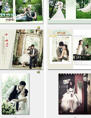 2014最新婚纱照写真样片模版 婚纱相册PSD设计模板甜蜜回忆系列