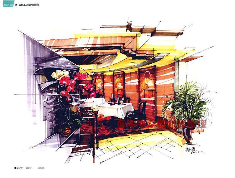 珠宝展厅cad平面图_【A194】室内建筑商业空间装饰设计与手绘马克笔效果图素材参考 ...