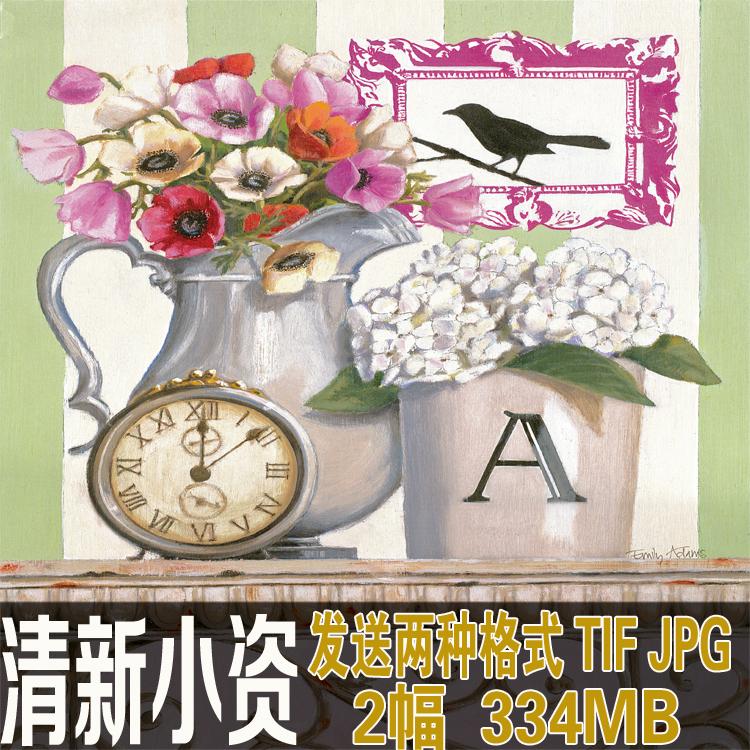清新小资 美式风格软装饰品图案 装饰画素材1