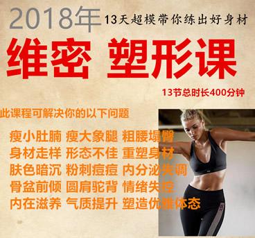 2019维密塑形私教瑜伽视频课程 13天美腹美腿身材气质提升
