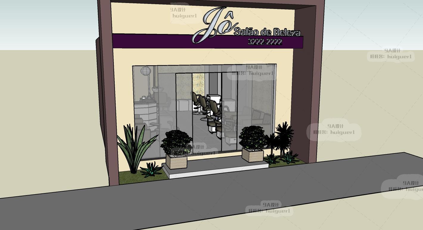 草图珠宝服装店模板专卖店化妆品汽车大师门头广告策划案展厅图片