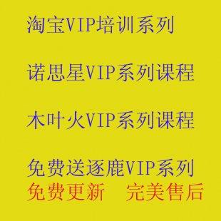 2019淘宝开店教程大全运营VIP课程逐鹿木叶火诺思星视频课程