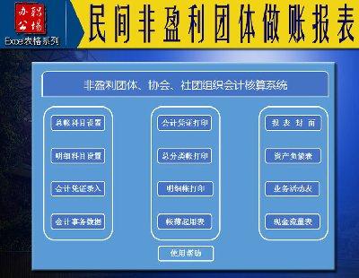 3044-民间非盈利团体做账报表表格式软件会计记账全新录入凭证自动生成